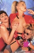 Three very cute retro lesbians love fondling each other