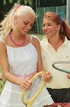 Sporty retro outdoor babes fucked by tennis horny…