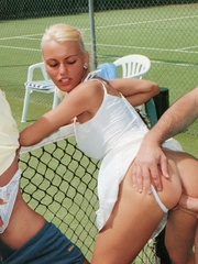 Sporty retro outdoor babes fucked by - XXX Dessert - Picture 7