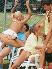 Sporty retro outdoor babes fucked by - XXX Dessert - Picture 10