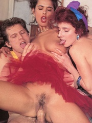 Two hairy retro chicks screwing one lucky - XXX Dessert - Picture 5