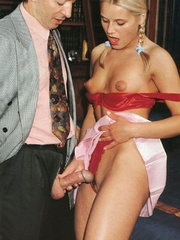 Very cute retro blonde banged by her - XXX Dessert - Picture 3