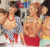 One lucky guy fucking three hot daring retro girls&hellip;