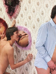 Horny dude loves hardcore retro gloryhole - XXX Dessert - Picture 13