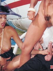 Helicopter pilot shagging two hot retro - XXX Dessert - Picture 12