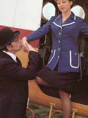 A retro flight attendant enjoys screwing - XXX Dessert - Picture 4
