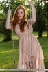 Cute and exotic sexy redhead with lusty round…