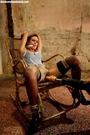 hot corset wearing brunette