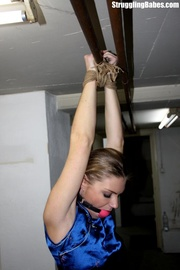 tall blonde left tied