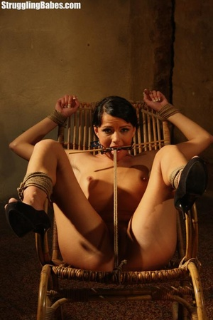 Hot brunette gets punished and roped to  - XXX Dessert - Picture 2