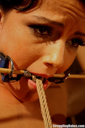 Hot brunette gets punished and roped to  - XXX Dessert - Picture 7
