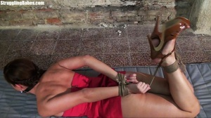 Hogtied whore tries to scream through he - XXX Dessert - Picture 10
