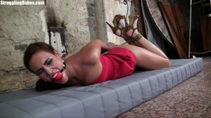 Hogtied whore tries to scream through he - XXX Dessert - Picture 16