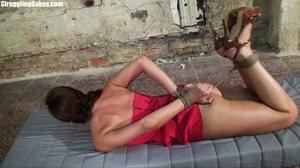Hogtied whore tries to scream through he - XXX Dessert - Picture 28