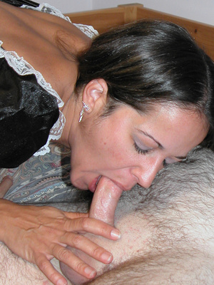 Cute petite chick dressed as a maid sucks dick and takes cock hard in pussy - XXXonXXX - Pic 4