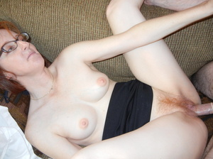 Slutty matured redhead in glasses takes cock in mouth and bends over for doggy - XXXonXXX - Pic 10