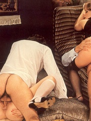 Retro chicks fucking at a very hairy sex - XXX Dessert - Picture 13