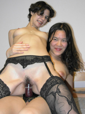 Hot lesbian fucking action as Asian uses strap-on to fuck sweet chick's pussy - XXXonXXX - Pic 8
