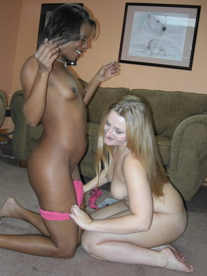 Creamy chick gets down with ebony babe for hot pussy licking and dildo fucking - XXXonXXX - Pic 2