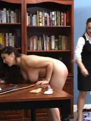 This randy brunette gets her juicy ass spanked in the library. - XXXonXXX - Pic 6