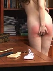 This randy brunette gets her juicy ass spanked in - XXXonXXX - Pic 7