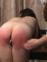 This randy brunette gets her juicy ass spanked in - XXXonXXX - Pic 9