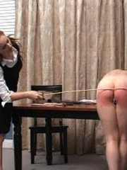 This randy brunette gets her juicy ass spanked in - XXXonXXX - Pic 10