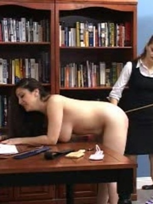 This randy brunette gets her juicy ass spanked in the library. - XXXonXXX - Pic 14