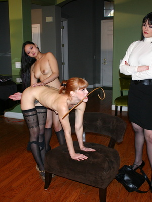 Randy redhead bending over to get her gorgeous ass spanked by a cute asian. - XXXonXXX - Pic 10
