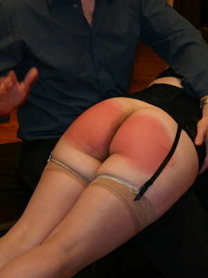 Saucy redhead bending over him and gets her gorgeous ass spanked. - XXXonXXX - Pic 2