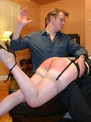 Saucy redhead bending over him and gets her gorgeous ass spanked. - XXXonXXX - Pic 5