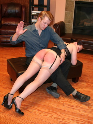 Saucy redhead bending over him and gets her gorgeous ass spanked. - XXXonXXX - Pic 11