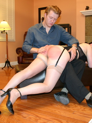 Saucy redhead bending over him and gets her gorgeous ass spanked. - XXXonXXX - Pic 13