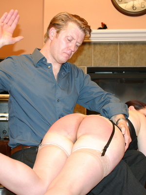 Saucy redhead bending over him and gets her gorgeous ass spanked. - XXXonXXX - Pic 14