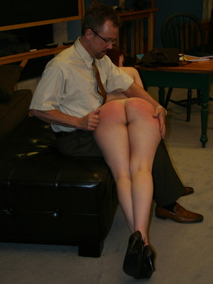 This horny redhead beauty gets her big ass spanked by daddy. - XXXonXXX - Pic 1