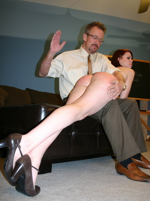 This horny redhead beauty gets her big ass spanked by daddy. - XXXonXXX - Pic 2