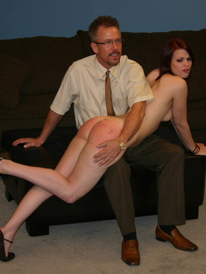 This horny redhead beauty gets her big ass spanked by daddy. - XXXonXXX - Pic 4