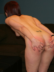 This horny redhead beauty gets her big ass spanked - XXXonXXX - Pic 5
