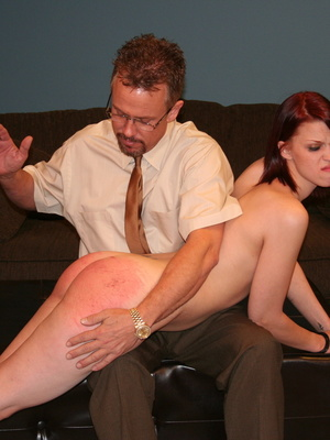 This horny redhead beauty gets her big ass spanked by daddy. - XXXonXXX - Pic 6
