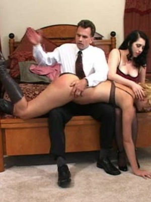 Horny black haired whore gets her tasty ass spanked by a horny guy. - XXXonXXX - Pic 3