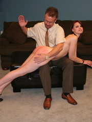 This horny redhead beauty gets her big ass spanked - XXXonXXX - Pic 7