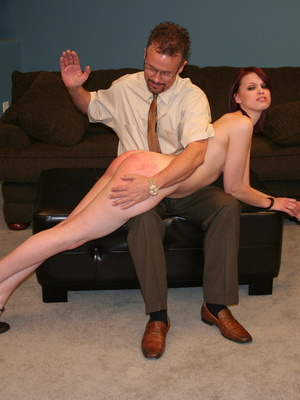 This horny redhead beauty gets her big ass spanked by daddy. - XXXonXXX - Pic 7