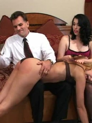 Horny black haired whore gets her tasty ass spanked by a horny guy. - XXXonXXX - Pic 5