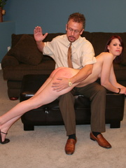 This horny redhead beauty gets her big ass spanked - XXXonXXX - Pic 9