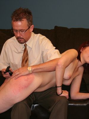 This horny redhead beauty gets her big ass spanked by daddy. - XXXonXXX - Pic 11