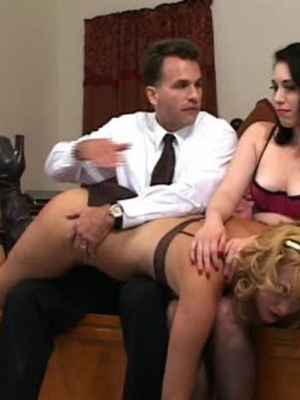 Horny black haired whore gets her tasty ass spanked by a horny guy. - XXXonXXX - Pic 9