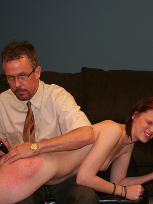 This horny redhead beauty gets her big ass spanked by daddy. - XXXonXXX - Pic 12