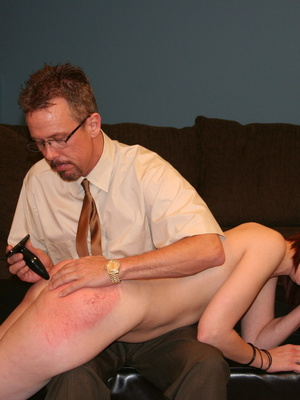 This horny redhead beauty gets her big ass spanked by daddy. - XXXonXXX - Pic 13