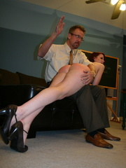 This horny redhead beauty gets her big ass spanked - XXXonXXX - Pic 14