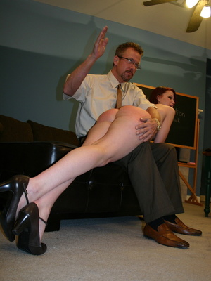 This horny redhead beauty gets her big ass spanked by daddy. - XXXonXXX - Pic 14